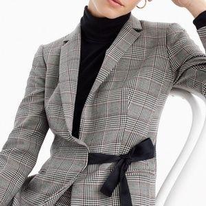 J. Crew Jackets & Coats - J. Crew Tie-front Blazer in Lady Glen Plaid